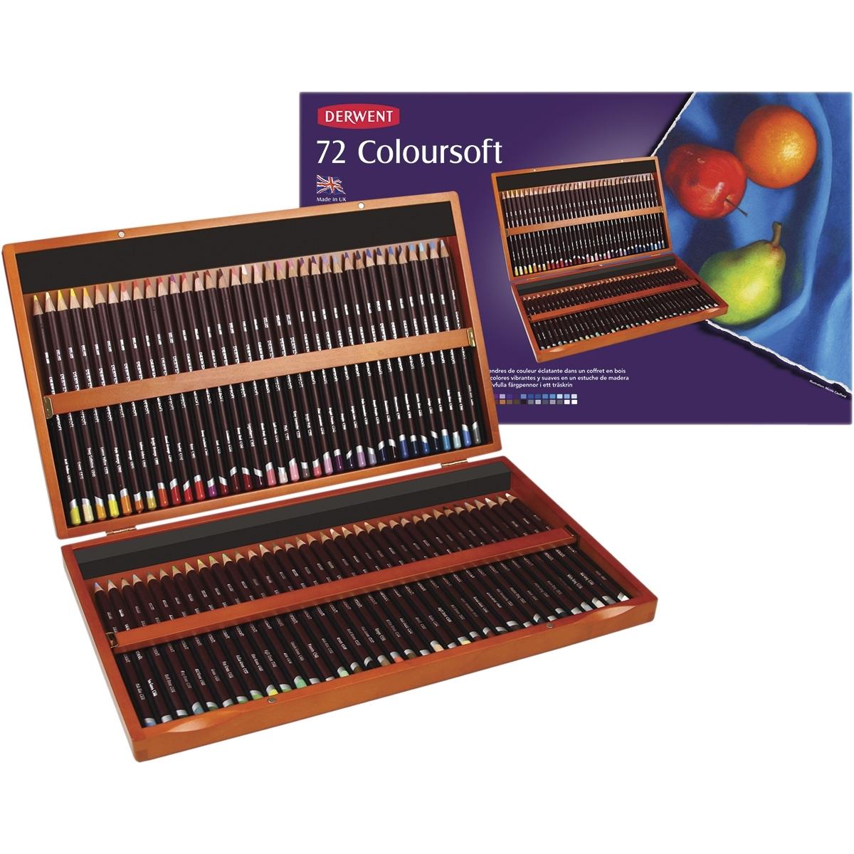 Lápis 72 Cores Estojo de Madeira Linha Coloursoft - Papelaria Botafogo