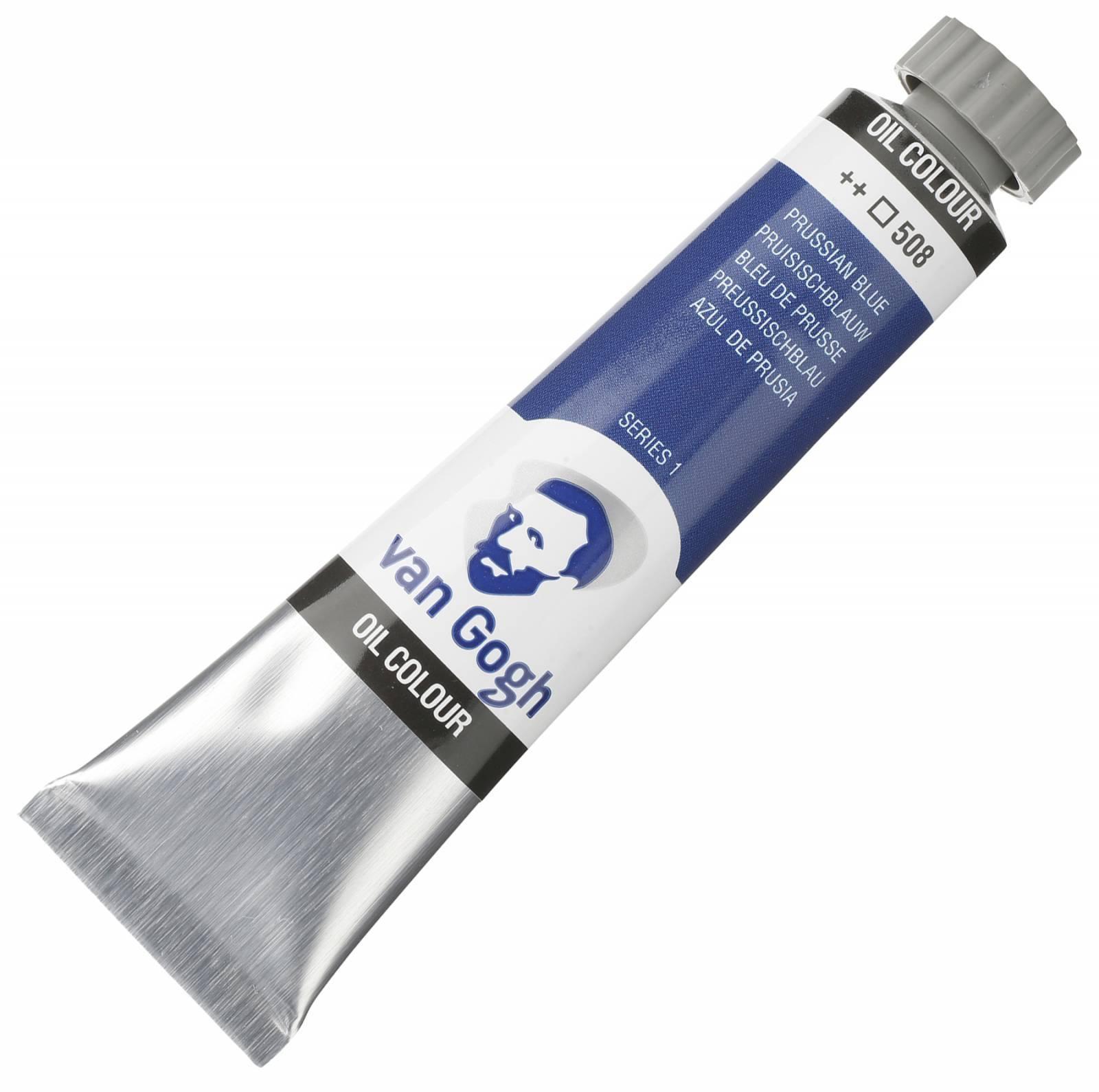 Oleo Van Gogh Prussian blue ++508 - serie 1 - Tubo 20ml - Papelaria Botafogo