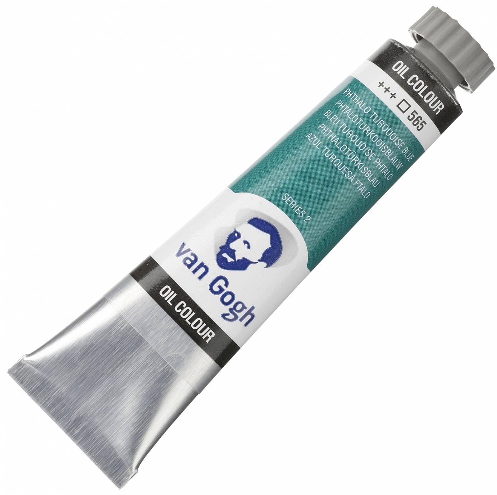 Oleo Van Gogh Phthalo turq. Blue +++565 - serie 2 - Tubo 20ml - Papelaria Botafogo