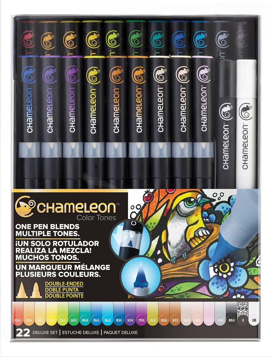 Kit Deluxe Chameleon 22 canetas - Papelaria Botafogo