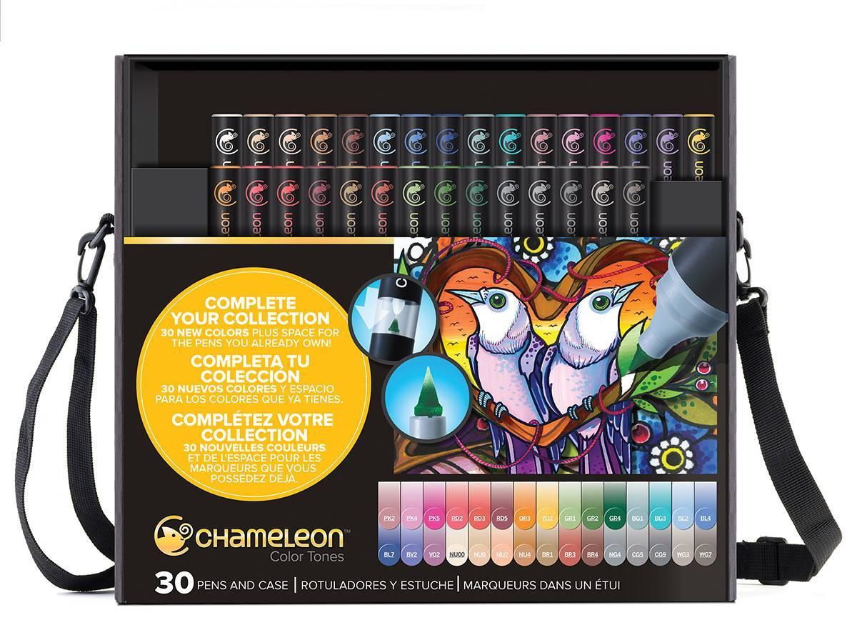 Kit Deluxe Chameleon 30 canetas - Papelaria Botafogo