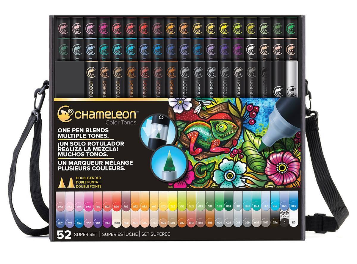 Kit Deluxe Chameleon 52 canetas - Papelaria Botafogo