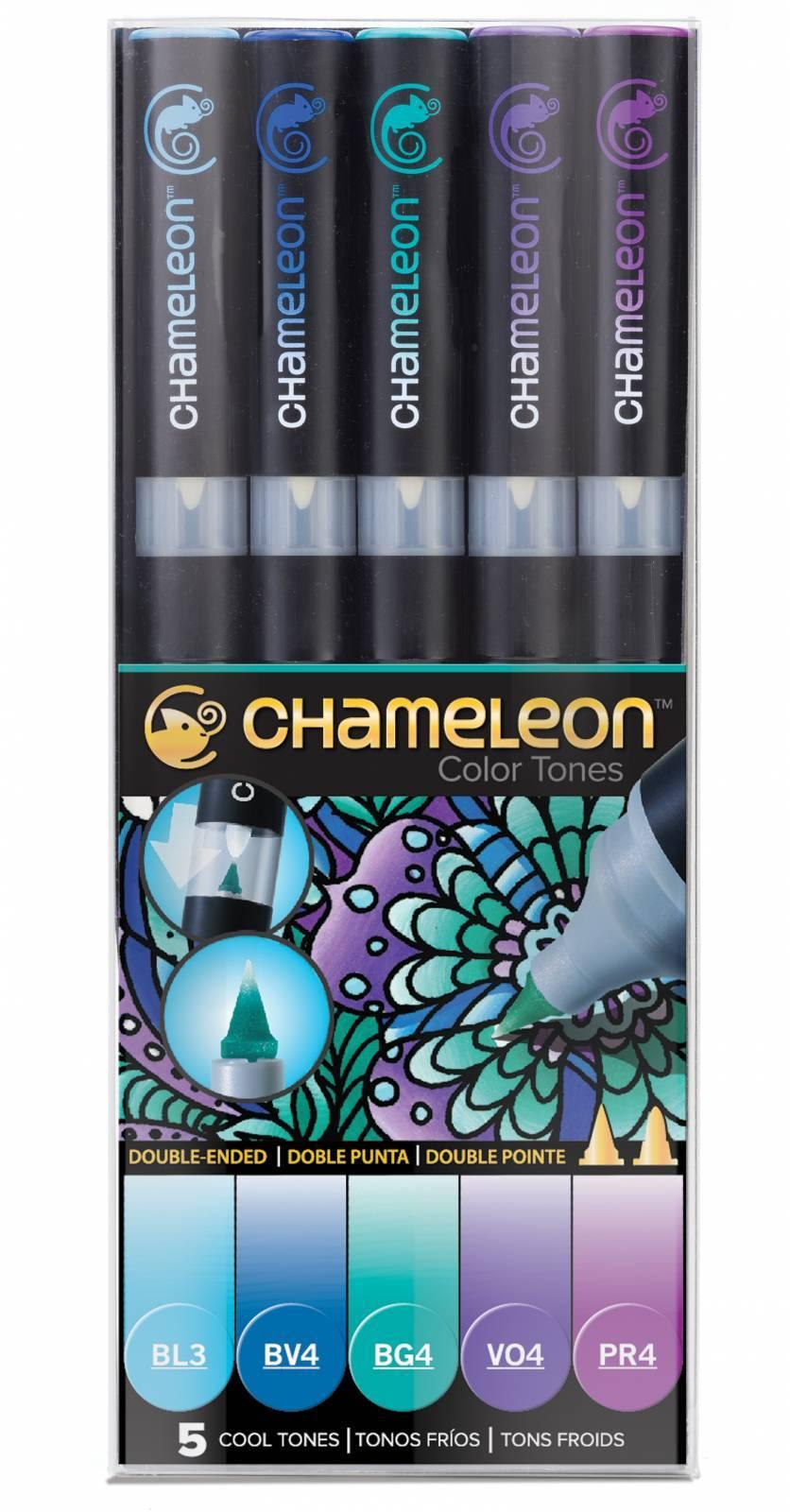Kit Chameleon 5 canetas - Tons de Frios - Papelaria Botafogo
