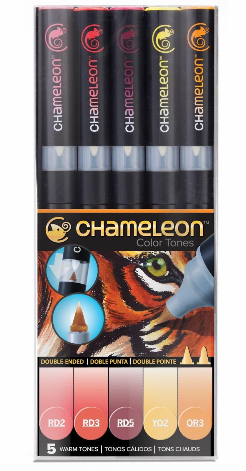 Kit Chameleon 5 canetas - Tons Quentes - Papelaria Botafogo