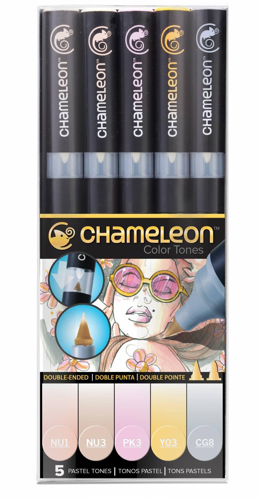Kit Chameleon 5 canetas - Tons Pastel - Papelaria Botafogo