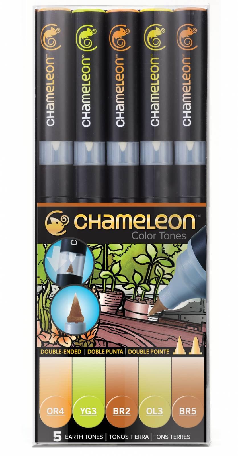 Kit Chameleon 5 canetas - Tons Terrosos - Papelaria Botafogo