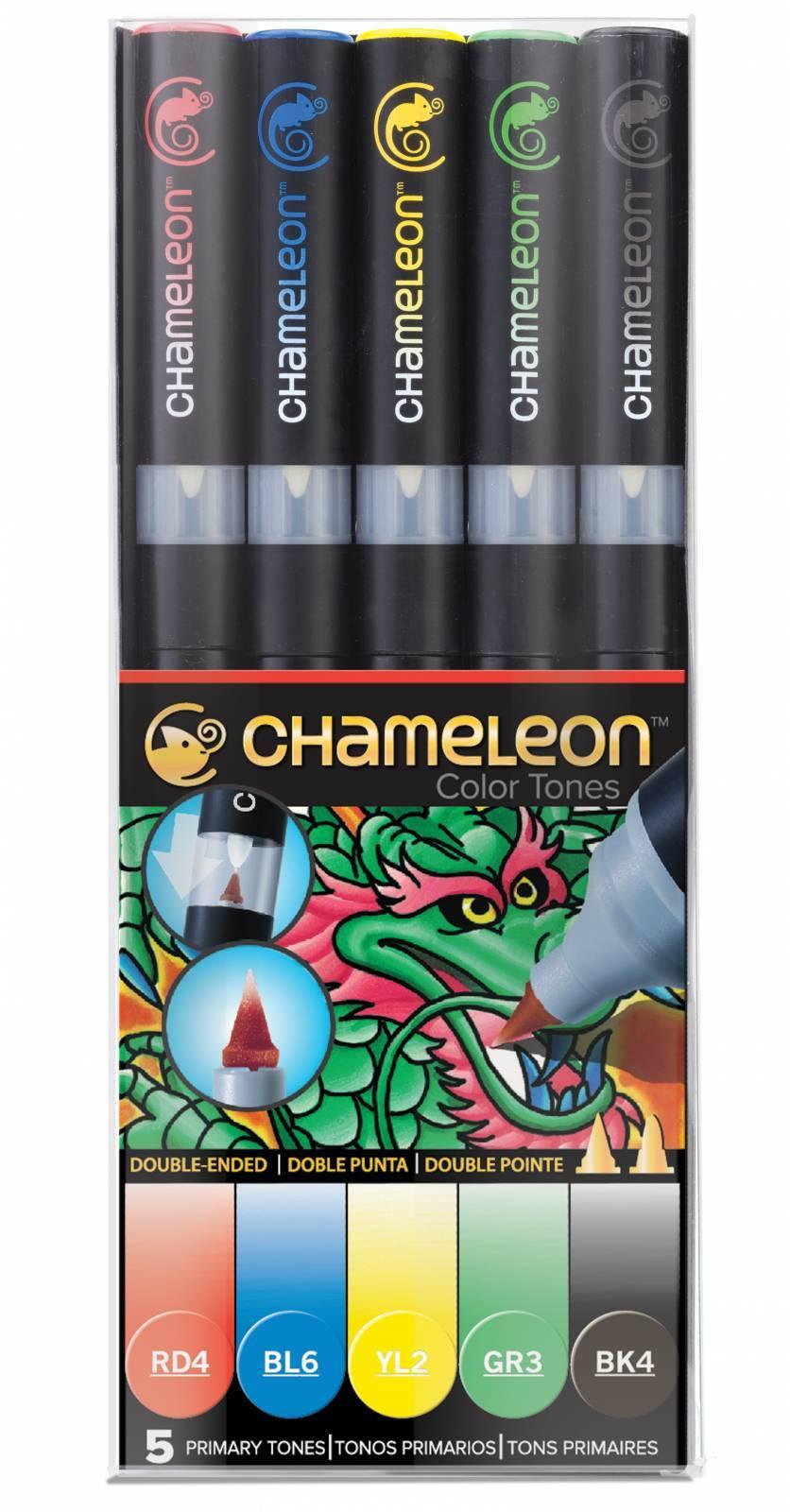 Kit Chameleon 5 canetas - Tons Primários - Papelaria Botafogo