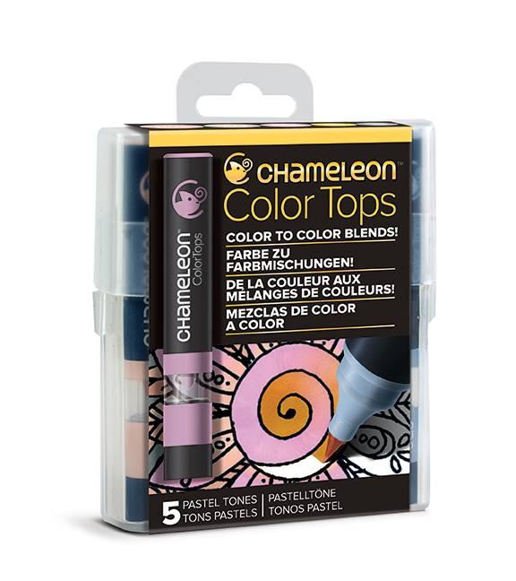 Kit 5 Color Tops Chameleon - Tons de Pastel - Papelaria Botafogo