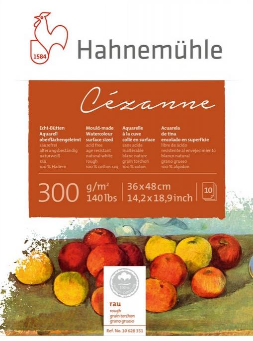 Papel Hahnemuhle Cezanne Textura Rugosa 300g/m2 24x32 10fls (10628349) - Papelaria Botafogo