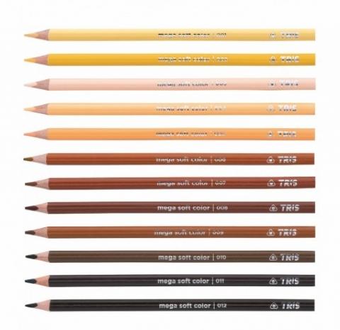 Lápis de Cor Mega Soft Color  Tons De Pele - Papelaria Botafogo
