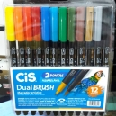 Caneta Dual Brush CIS Est c/12 sortido