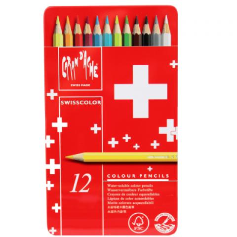 Lápis Swisscolor 12 Cores Carandache - Papelaria Botafogo