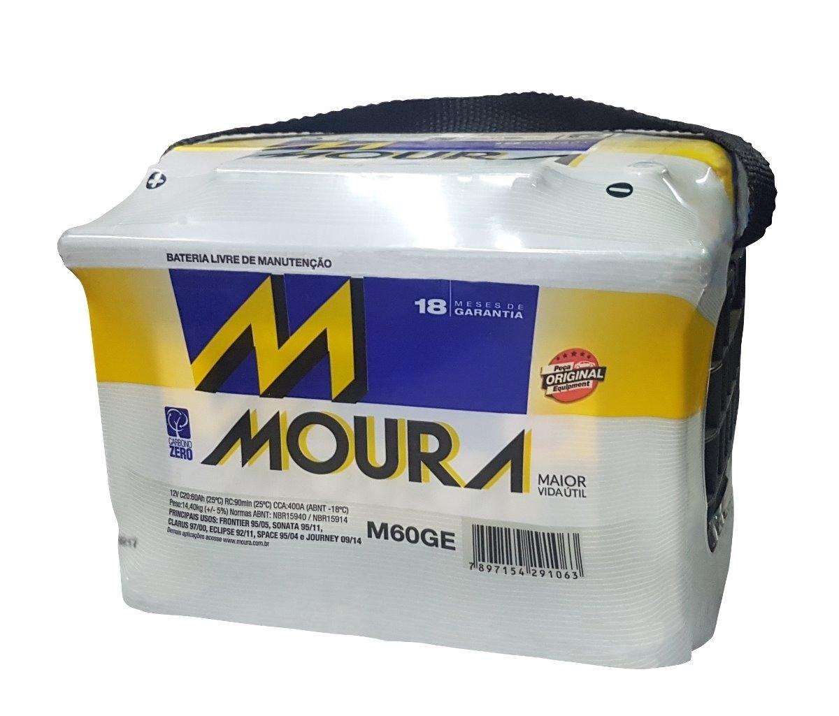 Bateria Moura 60Ah (M60GE) - Cantele Centro Automotivo