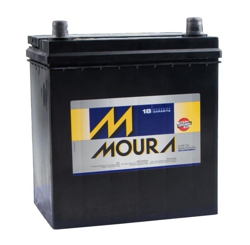 Bateria Moura 40Ah (M40SD) - Fit/City - Cantele Centro Automotivo
