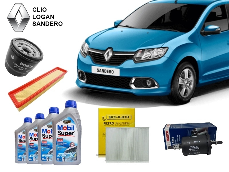 Kit Revisão Clio/Logan/Sandero 1.0 16V 2014 em diante - Cantele Centro Automotivo