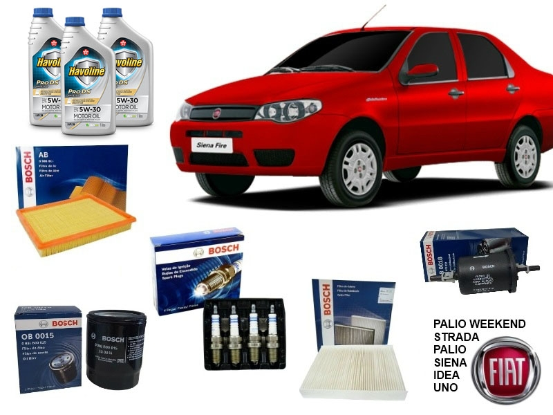 Kit Revisão 40.000 Km Palio/Strada/Siena/Idea/Uno Motor Fire - Cantele Centro Automotivo