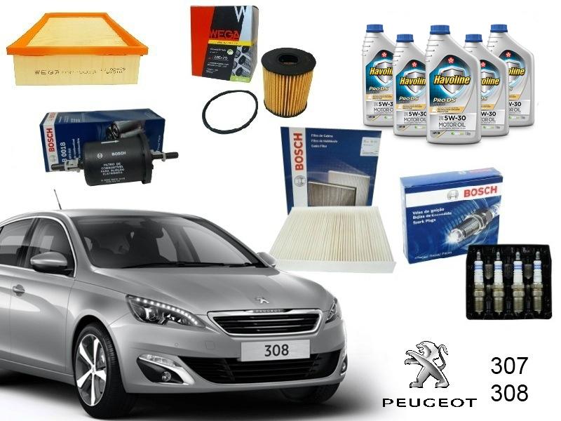 Kit Revisão 40.000 Km Peugeot 307/308 1.6/2.0 16V - Cantele Centro Automotivo