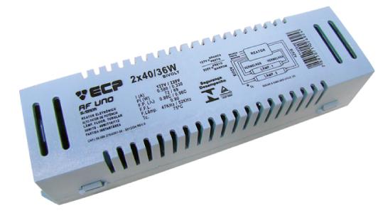 Reator Eletrônico 2X20/18W Bivolt - Luz Aqui