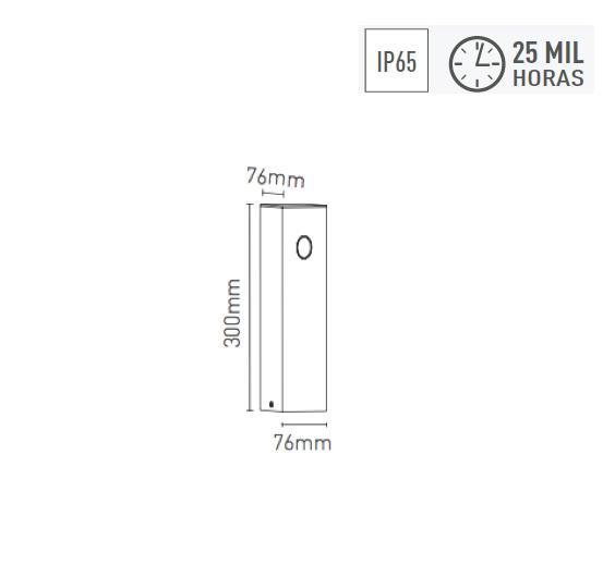 Poste Balizador LED 2,5W 30o 170lm 3000K - 4023-W - Luz Aqui