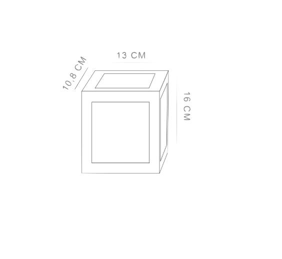 Arandela LED 12W 3000K Bivolt - HM 35000 - Luz Aqui
