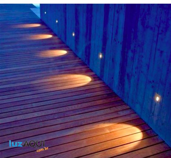 BALIZADOR DE PAREDE/TETO LED 0,75W 2700K BIVOLT - 3961C-S  - Luz Aqui