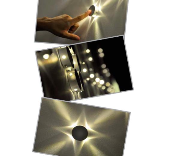 Balizador/Arandela Mini Star Led 0,5W Bivolt - IL 4119 - Luz Aqui