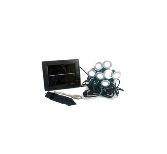 Balizador LED Solar KIT PAINEL SOLAR +10 EMBUTIDOS LED 0,6W - Luz Aqui