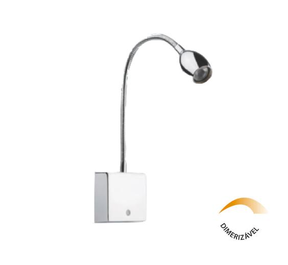 Arandela Leitura LED 1,2W Flexivel Touch IL 4143-WW Cromo - Luz Aqui
