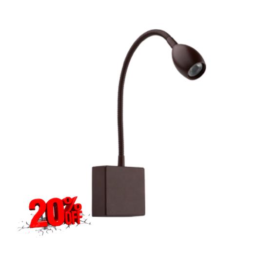 Arandela Leitura LED 1,2W Dim 3000K 90lm Bivolt Olive 4143-W - Luz Aqui