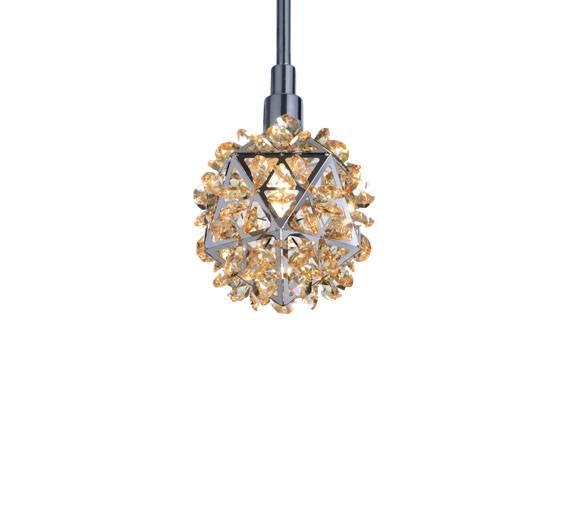 Pendente GEO Cristal 10x12cm em Cristal - 1010 - Luz Aqui