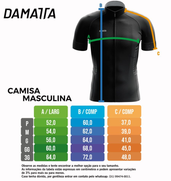 Camisa Ciclismo Bike Retro Laranja - Damatta  - PauliBike