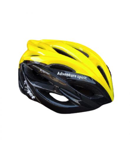 Capacete Bike Hornet Adventure Com Iluminação Preto/Amarelo - JET - PauliBike