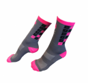 Meia Ciclismo Cinza/Rosa T 36-39 - Solifes