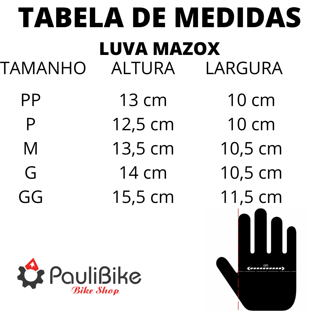 Luva Ciclismo Dedo Curto Laranja - MAZOX  - PauliBike