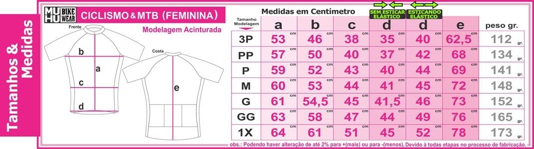 Camisa Ciclismo Feminina Manga Curta Brush - MUHU - PauliBike