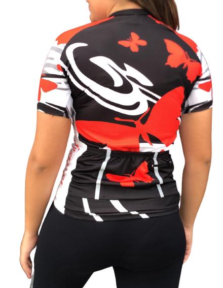 Camisa Ciclismo Feminina Borboleta - PENKS - PauliBike