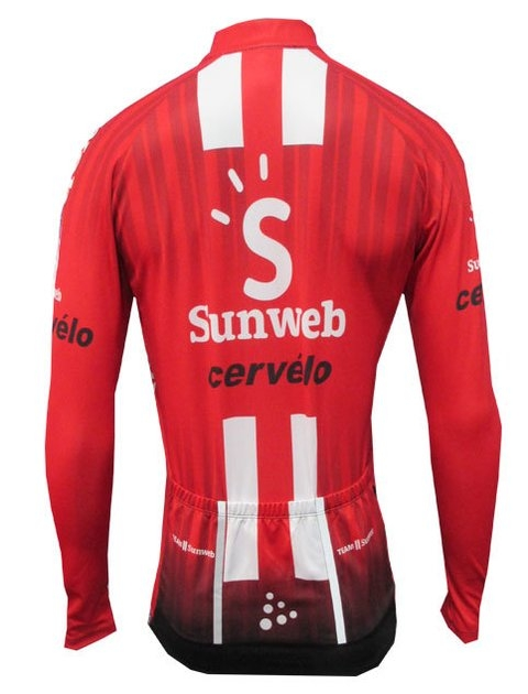 Camisa Ciclismo Masculina Cabani Sunweb - Manga Longa  - PauliBike