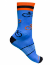 Meia Bike Cycle Azul/Laranja - Tamanho 38-42 - Damatta