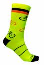 Meia Bike Cycle Amarelo/Preto - Tamanho 35-40 - Damatta