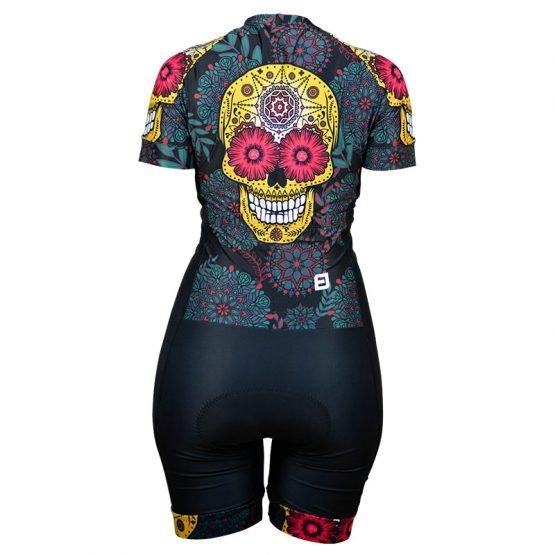 Macaquinho Ciclismo Skull Black - Furbo - PauliBike