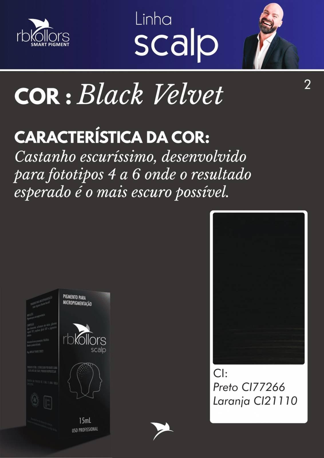 PIGMENTO RB KOLLORS SCALP BLACK VELVET 15 ML - RB Kollors