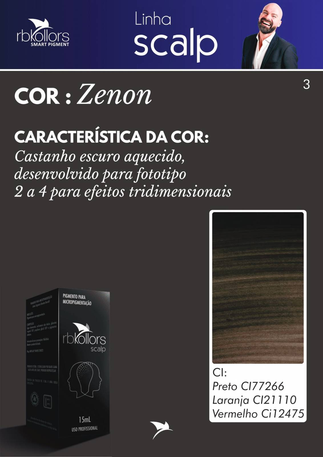 PIGMENTO RB KOLLORS SCALP ZENON 15 ML - RB Kollors