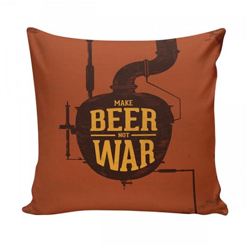 Almofada Make Beer Not War 40x40 - Confraria 77 - Bakar-Bakar