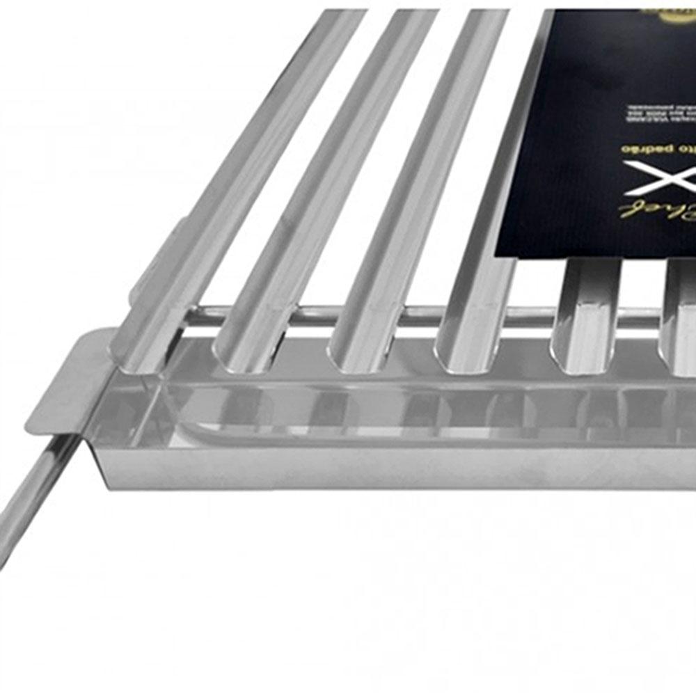 Grelha Inox Argentina de Parrilla  Luxo 60x50 - Grilazer - Bakar-Bakar