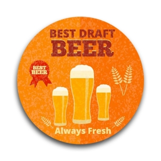 Porta Copos em MDF Best Draft Beer - Tecnolaser