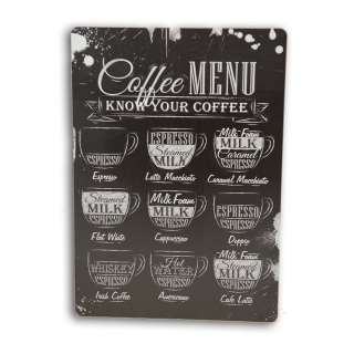 Placa Decorativa em MDF I Love Coffee 20X28cm