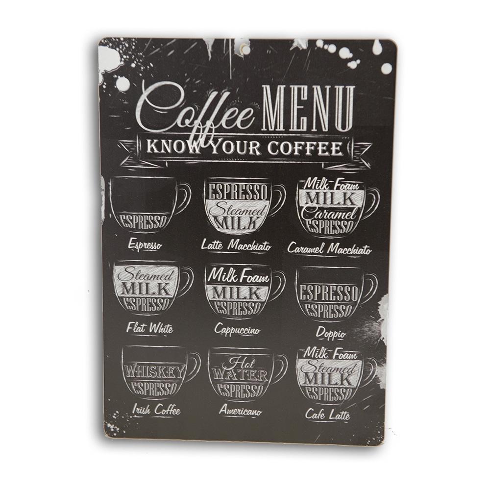 Placa Decorativa em MDF I Love Coffee 20X28cm - Bakar-Bakar