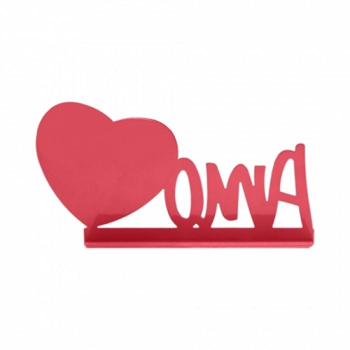 Porta Retrato Amo Coração Rosa - Geguton - Bakar-Bakar