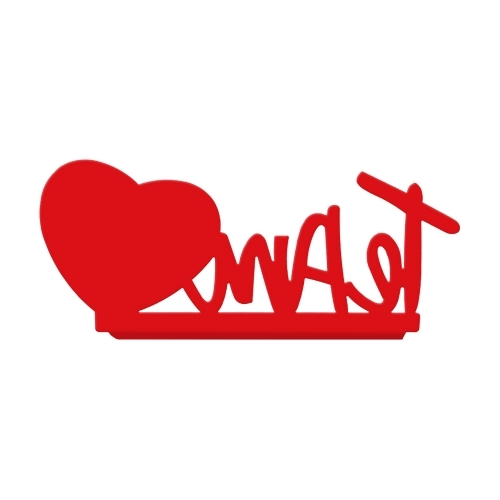 Porta Retrato Te Amo Coração Vermelho - Geguton - Bakar-Bakar