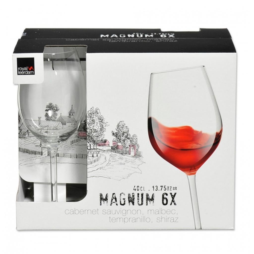 Conjunto 6 Taças Para Vinho Magnum - Royal Leerdam - Bakar-Bakar